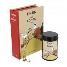 Pack Tintin au Congo - Figurine, Litho et Boite à café (Lion)