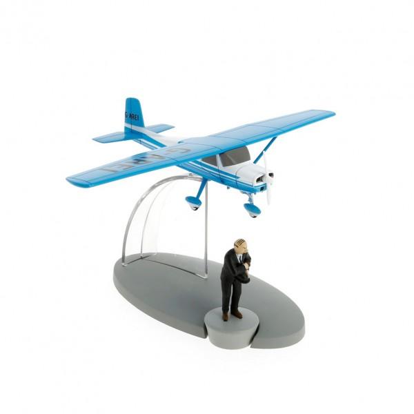 Tintin, l'avion bleu de Muller