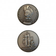Collectible medal Spirou and Fantasio with the Marsupilami