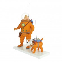 Tintin and Snowy cosmonaut by Moulinsart Fariboles