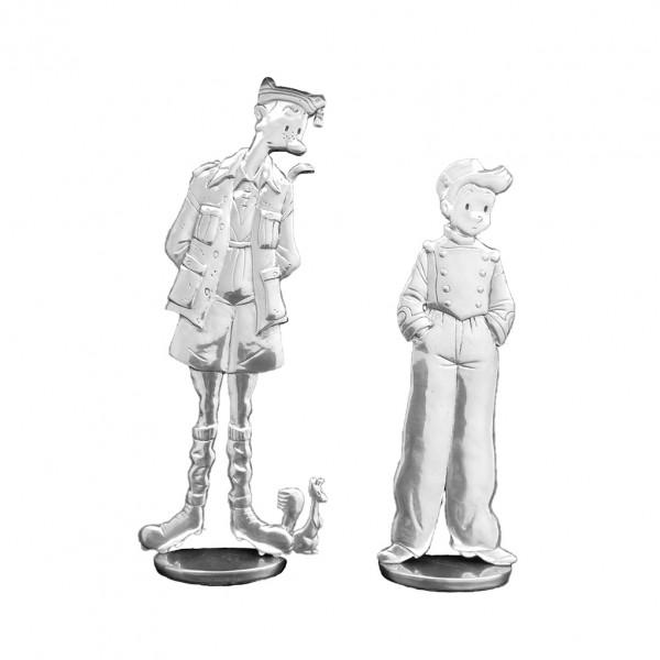 Le Spirou et Fantasio de Emile Bravo (figurine en étain)
