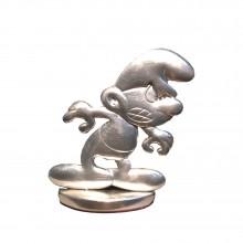 Tin figurine Vintage black Smurf