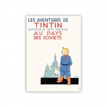 Affiche Tintin - Soviets