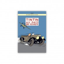 Poster Tintin Soviets (in colors)