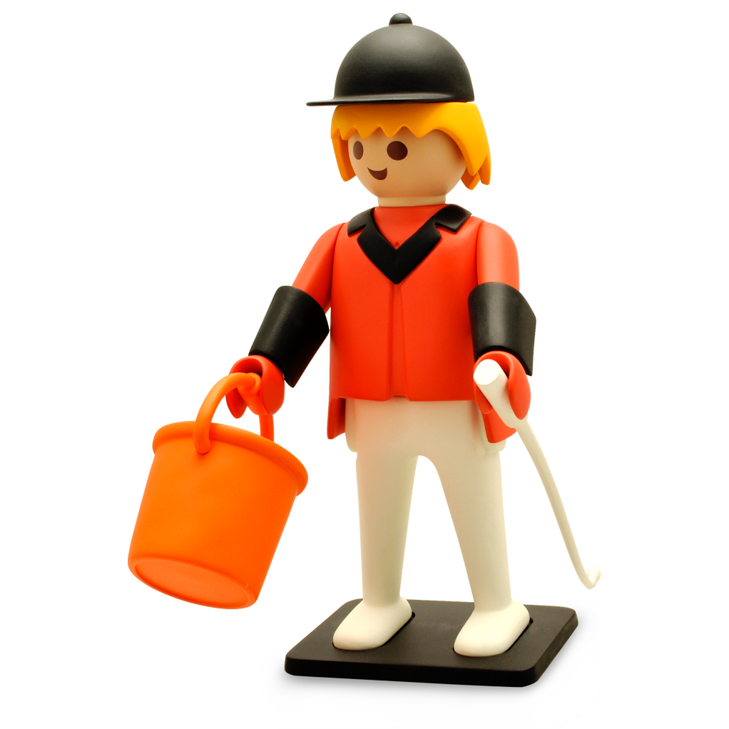 Playmobil Vintage de Collection - Le cavalier de concours d'obstacles