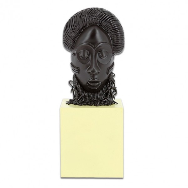 African Mask Statue, The imaginary museum