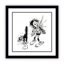 Gaston en violoniste confirmé - Plaque en Aluminium