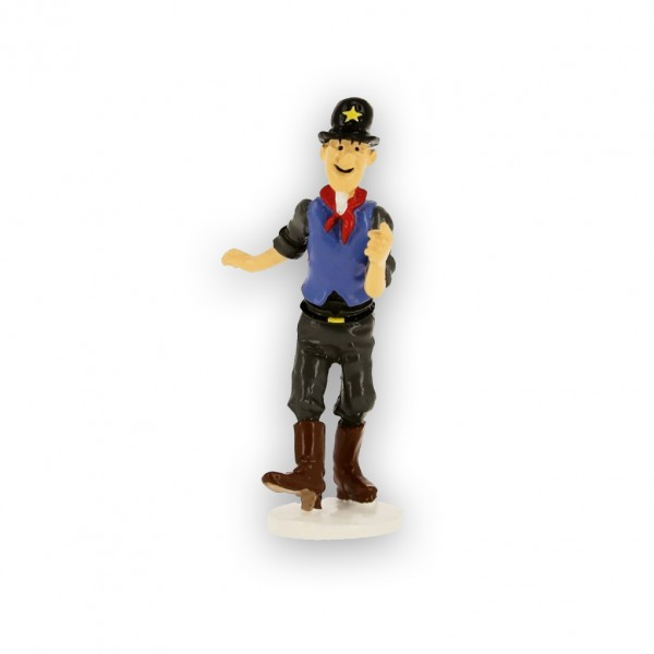 Figurine Sheriff, Tintin wish card 1972