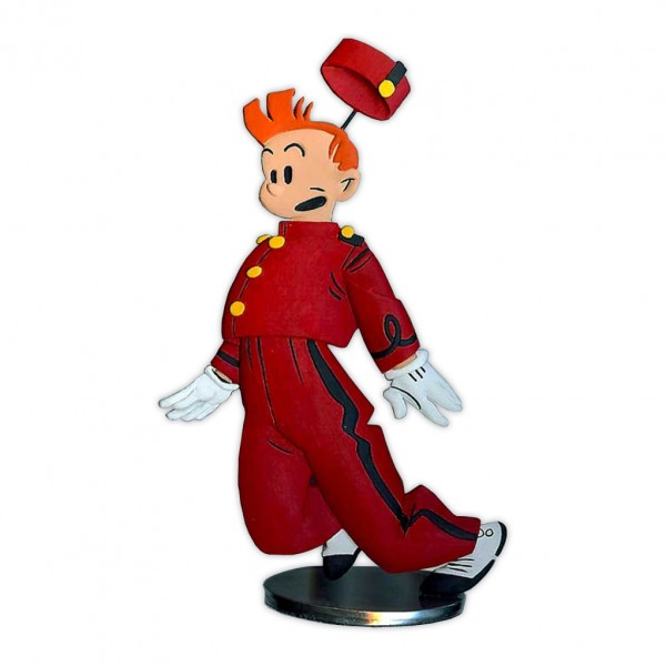 Tin figurine Spirou by Yves Chaland (in colors)