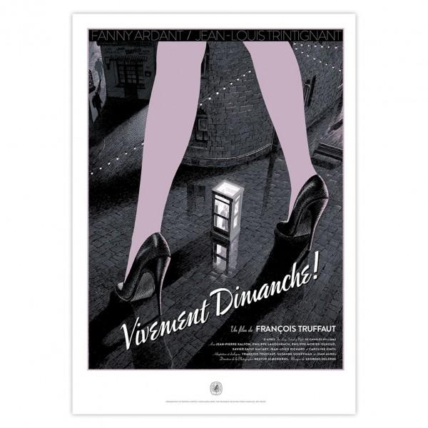 Vivement Dimanche ! - Sérigraphie hommage à Truffaut par Schuiten