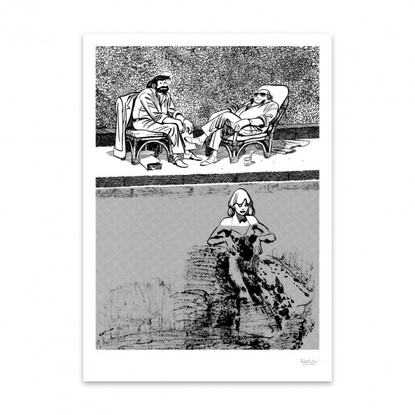Silkscreen print Tif &Tondu Blutch 2