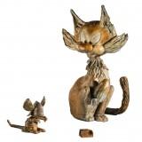 Le chat dingue et Cheese en armure - Gaston Lagaffe - Bronze