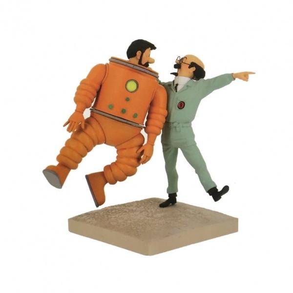 Figurine Haddock and Calculus Destination Moon by Fariboles