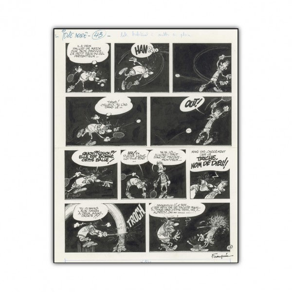 Aluminium printing Idées noires 43 by Franquin (french Edition)
