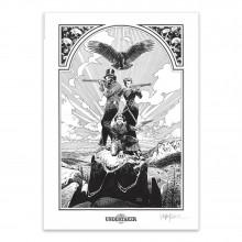Affiche Undertaker - Jonas, Lin et Rose - Signée par Ralph Meyer