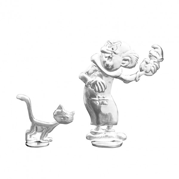 Tin figurine Gargamel and Azrael
