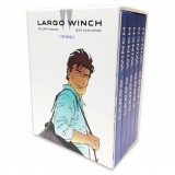 Box set Largo Winch (Francq and Van Hamme) with a poster