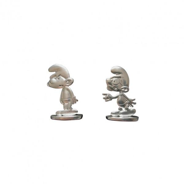 Tin figurine Brainy and Grouchy Smurf