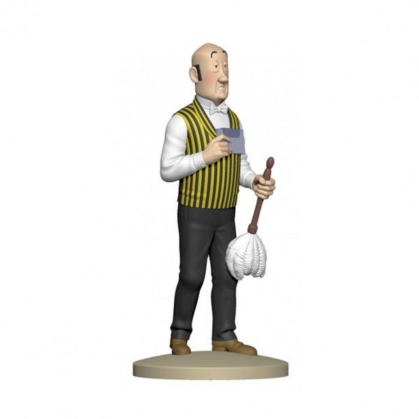 Figurine Nestor with feather duster by Moulinsart
