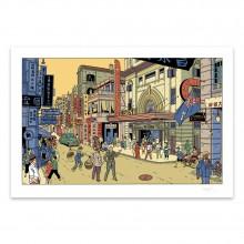 Sérigraphie Blake et Mortimer à Hong Kong - La vallée des immortels 2