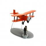Figurine Aerobatic Biplane Tintin The Black Island
