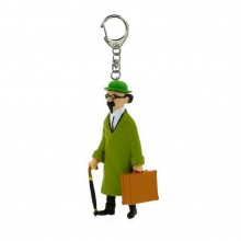 Keyring Tintin rocket Professor Calculus and his briefcase