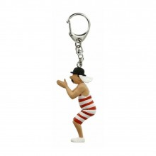 Keyring Tintin Thompson with a swimsuit