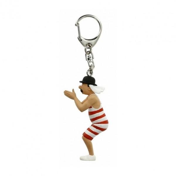 Porte-clés Tintin - Dupond baigneur