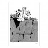Silkscreen print Tif & Tondu Blutch b&w album cover