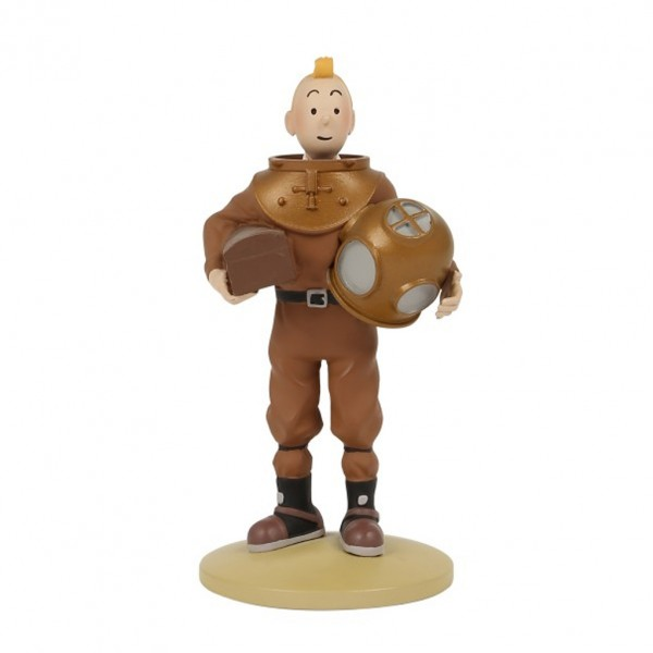 Figurine Tintin in a diving suit