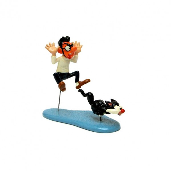 Figurine Pixi Prunelle and Gomer Goof cat