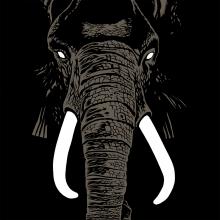 Silkscreen print Bruno The Elephant