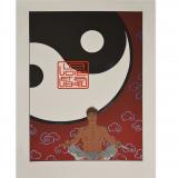 Silkscreen print Largo Winch The way and the virtue