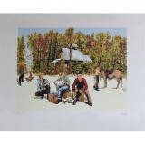 Silkscreen print Bob Morane