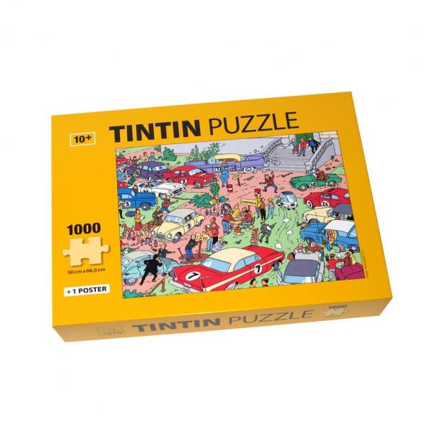 Puzzle Tintin Rallye 1000 pièces et poster