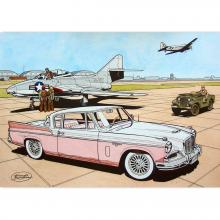 Artprint Buck Danny Studebaker 1957 by Bergèse