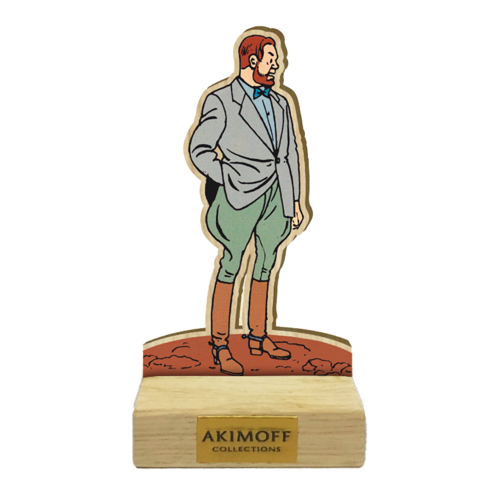 FIGURINE BOIS PROFESSEUR PHILIP MORTIMER