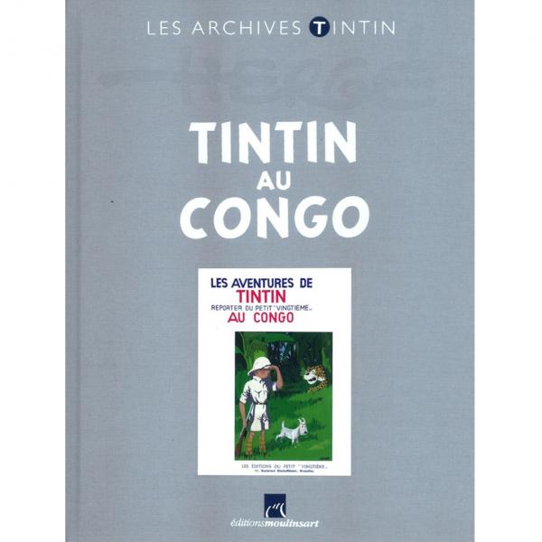 Livre Tintin au Congo N&B Les Archives Tintin