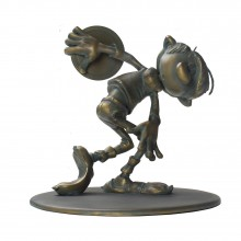 Figurine Gaston Discobole version patine bronze
