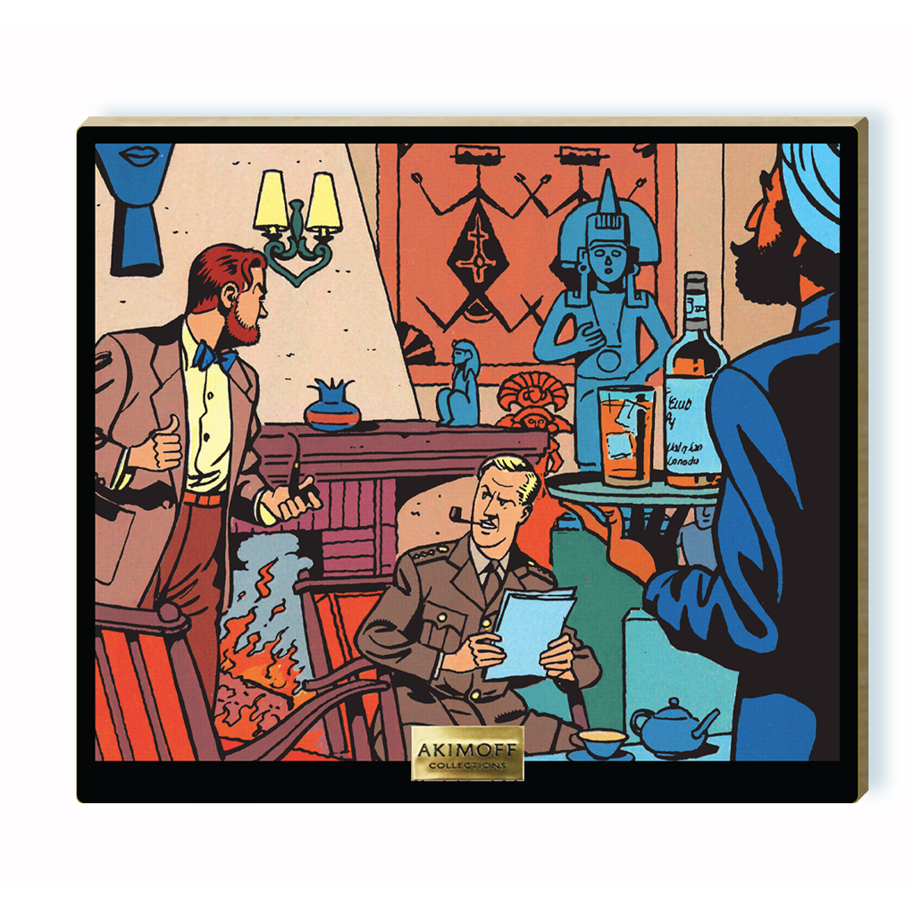 Tableau de collection en bois - Le salon de Blake et Mortimer