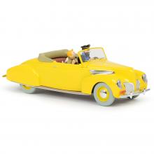 Les véhicules de tintin au 1/24 - La décapotable jaune des 7 Boules de Cristal