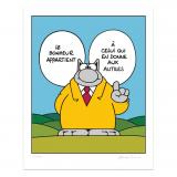 Silkscreen print The Cat Bonheur (french)