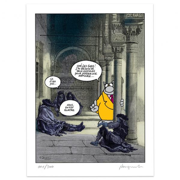 Sérigraphie Le chat de Geluck - Costauds