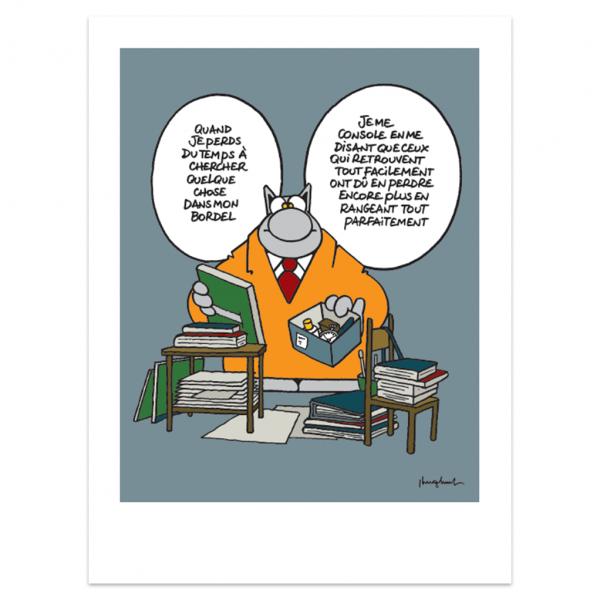 Silkscreen print The Cat Bordel (french)