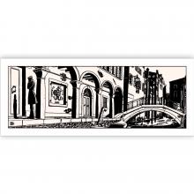 Sérigraphie Corto Maltese ''Venise nuit''