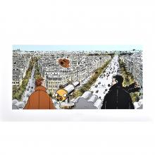 Estampe pigmentaire Nestor Burma par Tardi : Le 8e arrondissement