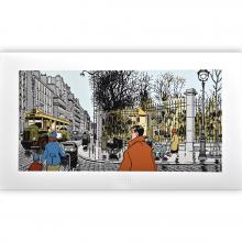 Estampe pigmentaire Nestor Burma par Tardi, Le 6e arrondissement