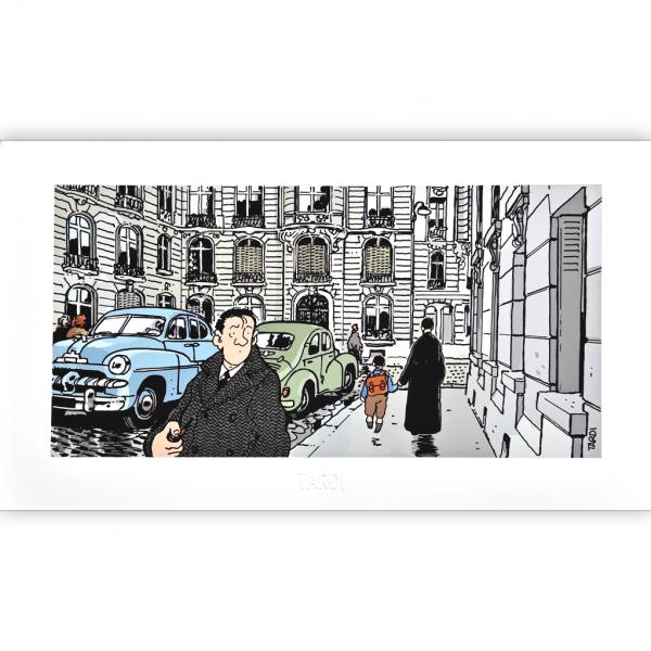 Estampe pigmentaire Nestor Burma par Tardi, le 16e arrondissement