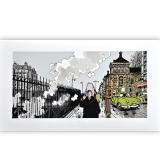 Estampe pigmentaire Nestor Burma par Tardi, le 17e arrondissement