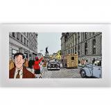 Estampe pigmentaire  Nestor Burma par Tardi, le 3e arrondissement
